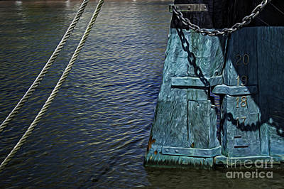 Photograph - Old Wooden Ship Rudder by Phil Cardamone