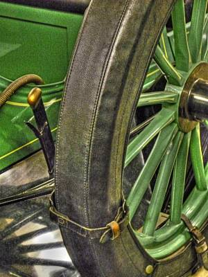 Vintage Automobile Photograph - Old Wooden Spare Tire by Heather Allen