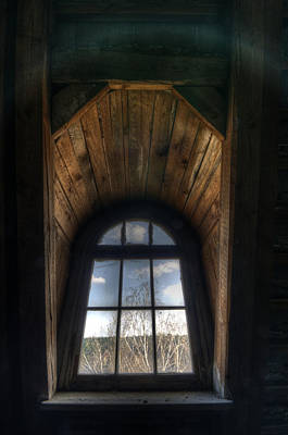 Cracks Digital Art - Old Wooden Window by Nathan Wright
