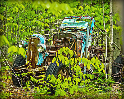 Photograph - Old Woods Truck by Alana Ranney