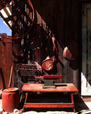 Photograph - Old Work Shed by Timothy Bulone