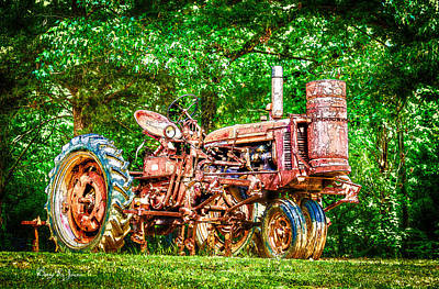 Tractor Photograph - Tractor - Old Workhorse  by Barry Jones