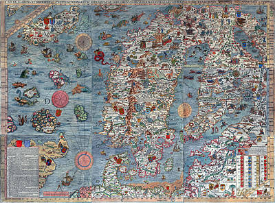 Old World Art Map  Print by Inspired Nature Photography Fine Art Photography