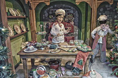 Food Stores Mixed Media - Old World Christmas Chef Hdr by Thomas Woolworth