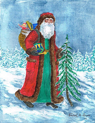 Painting - Old World Father Christmas4 by Barbel Amos