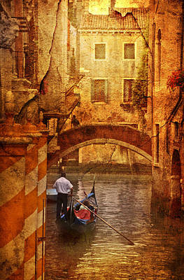 Old World Gondola Art Print by Greg Sharpe