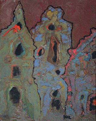 Painting - Old World II by Oscar Penalber