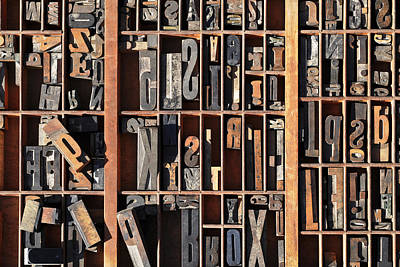 Typographic Photograph - Old World Letterpress by Carter Jones
