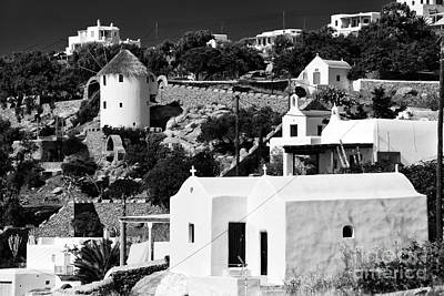 Photograph - Old World Living In Mykonos by John Rizzuto