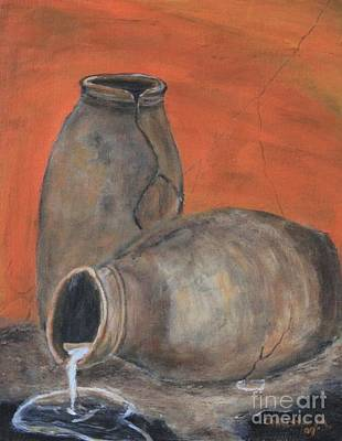 Art Print featuring the painting Old World Pottery by Christie Minalga