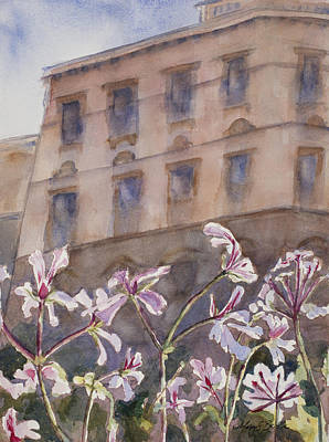 Old World Windowbox Print by Mary Benke