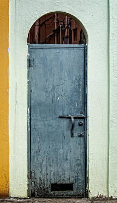 Photograph - Old Worn Doorway St Thomas by James Hammond