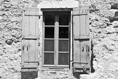 Rivets Photograph - Old Worn Window by Georgia Fowler