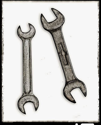 Classic Studio Photograph - Old Wrenches by Patrick Chuprina