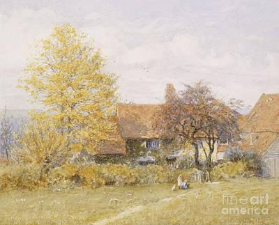 Old Wyldes Farm Art Print by Helen Allingham
