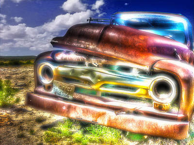 Photograph - Wyoming Old Chevy Truck by Amanda Smith