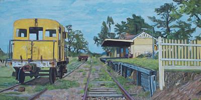 Old Yarra Glen Railway Station Art Print by Bert Ernie