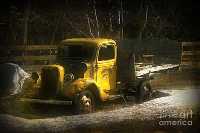 Photograph - Old Yellow by Alyce Taylor