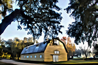 Photograph - Old Yellow Barn by Alice Gipson