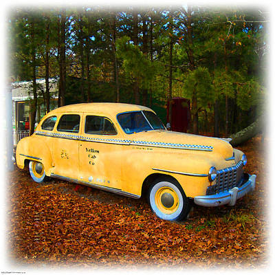 Digital Art - Old Yellow Cab by K Scott Teeters