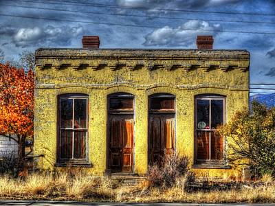 Art Print featuring the photograph Old Yellow House In Buena Vista by Lanita Williams