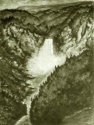 Yellowstone Falls - Fine Art Art Print