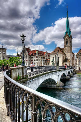Old Zurich Print by Carol Japp