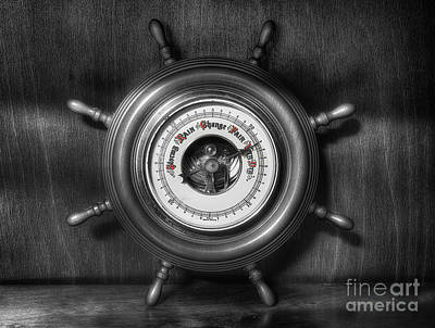 Barometer Photograph - Olde Barometer by Ian Mitchell