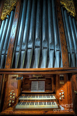 Sheet Music Photograph - Olde Church Organ by Adrian Evans