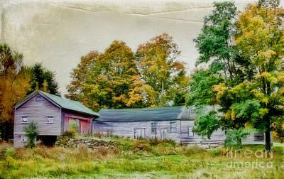 Vermont Mixed Media - Olde Homestead On Rt 105 by Deborah Benoit