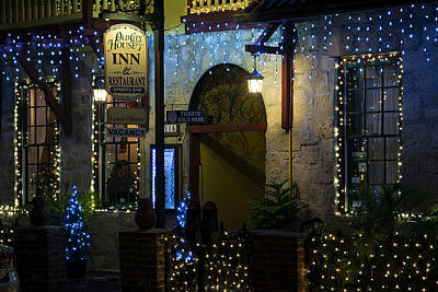 Christmas Holiday Scenery Photograph - Olde Inn At Christmas by Kenneth Albin