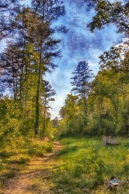 Impressionism Digital Art - Olde Rope Mill Trail by Daniel Eskridge