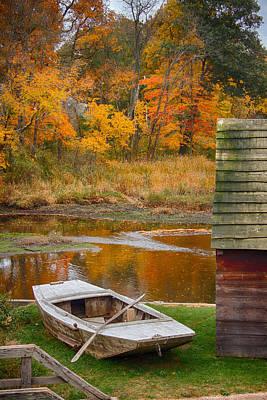 Row Boat Digital Art - Olde Tyme Colors by Jeff Folger