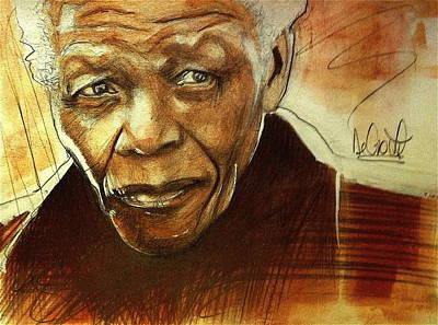 Older Nelson Mandela Art Print