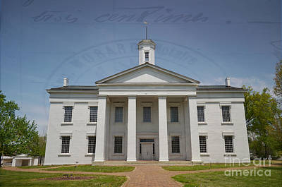 Photograph - History  - Oldest Illinois Capitol Building - Luther Fine Art by Luther Fine Art