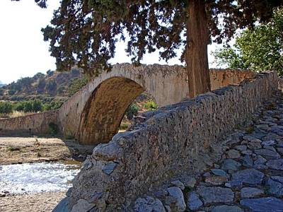Photograph - Oldest Stone Bridge Of Preveli Crete Circa 1100ad by Jeff at JSJ Photography