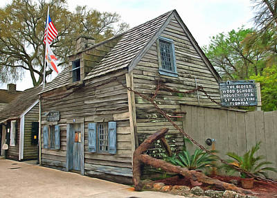 Oldest Wood School House In The Usa Art Print