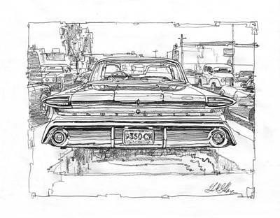 Impressionism Drawings - Oldsmobile 88 Study by Garth Glazier