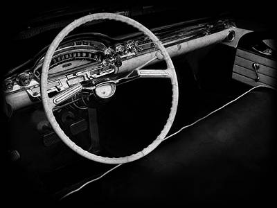 Photograph - Oldsmobile Dynamic 88 Interior by Mark Rogan