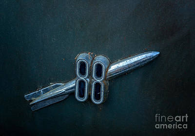 Garden Fruits - Oldsmobile Rocket 88 emblem blue dark by Iris Richardson