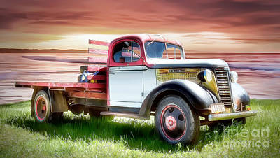 Digital Art - Oldsmobile Sunset by Shannon Rogers