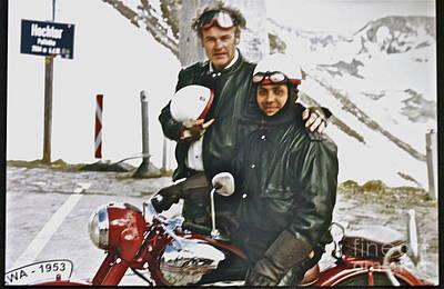 Jawa Photograph - Oldtimer Bohemia Rally - Oldtimer Jawa Fub Club. Grossglockner-hochalpenstrasse . by  Andrzej Goszcz