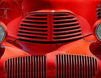 Photograph - Oldtimer In Red #2 by Wayne Wood