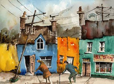 Painting - Cork  Oldy Worldy Ardgroom  Beara by Val Byrne