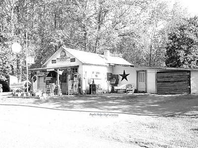 Digital Art - Ole Country Store In Ridgeway by Angelia Hodges Clay