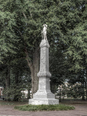 Photograph - Ole Miss Confederate Statue by Joshua House