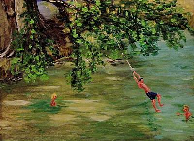 Ole' Swimming Hole Art Print