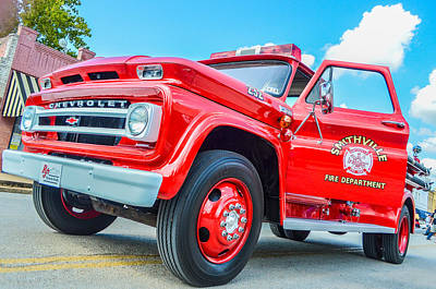 Photograph - Ole Time Fire Truck Series 1 by Kelly Kitchens