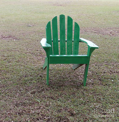 Ole Weathered Chair Art Print by Joseph Baril