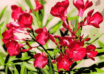 Oleander Red Art Print by Sheri McLeroy